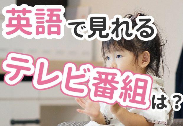 【テレビ番組】英語で見れるアニメは?適切なレベルも解説。