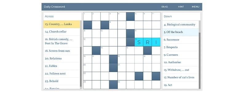 【Lovatts Crosswords & Puzzles】スクリーンショット