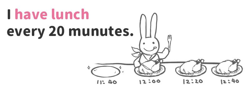 have lunch(昼食を食べる)