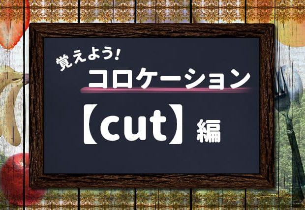 【cut】を使ったコロケーションを覚えよう!