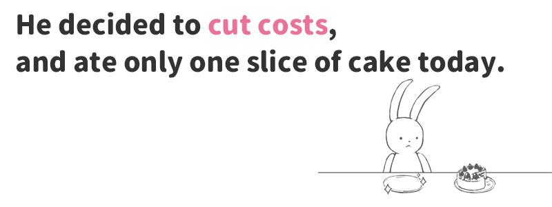 cut costs(経費を削減する)