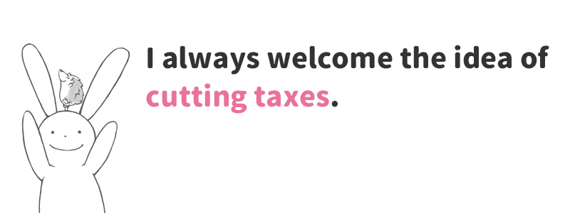 cut taxes(減税する)