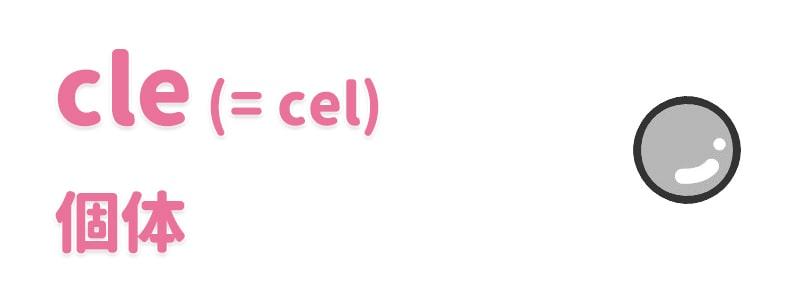 【cle(=cel)】個体